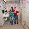 "Skarland Hall residents Sara Spindler, left, and Hailley Myers get ready for a day of classes in one of the dorm's newly re-modeled bathrooms.  <div class=""ss-paypal-button"">Filename: LIF-12-3322-159.jpg</div><div class=""ss-paypal-button-end"" style=""""></div>"