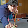 "Freshman Robert Doerning plays some pool in the Skarland Hall lounge.  <div class=""ss-paypal-button"">Filename: LIF-12-3322-001.jpg</div><div class=""ss-paypal-button-end"" style=""""></div>"