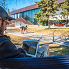 "Students enjoy some spring sunshine and warm temperatures in late April on the Fairbanks campus.  <div class=""ss-paypal-button"">Filename: LIF-16-4877-12.jpg</div><div class=""ss-paypal-button-end""></div>"