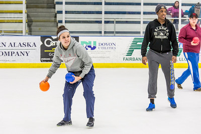 Photos taken during the ice dodgeball competition at the Patty Ice Arena during the 2014 Nanook Winter Carnival Feb. 22.  Filename: LIF-14-4087-18.jpg