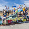 "A group of Moore Hall residents pose on a donated car before its demolished as part of UAF SpringFest April 28.  <div class=""ss-paypal-button"">Filename: LIF-14-4168-60.jpg</div><div class=""ss-paypal-button-end""></div>"