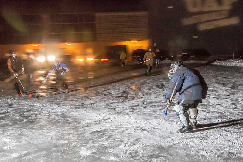 "Outdoor broomball, played on the ice in front of the SRC, is a popular intramural sport at UAF.  <div class=""ss-paypal-button"">Filename: LIF-12-3652-131.jpg</div><div class=""ss-paypal-button-end"" style=""""></div>"
