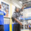 "Terrence Holmes celebrates as he is crowned the Rock Paper Scissors champion of the evening during New Student Orientation at the Student Rec. Center.  <div class=""ss-paypal-button"">Filename: LIF-13-3924-263.jpg</div><div class=""ss-paypal-button-end"" style=""""></div>"