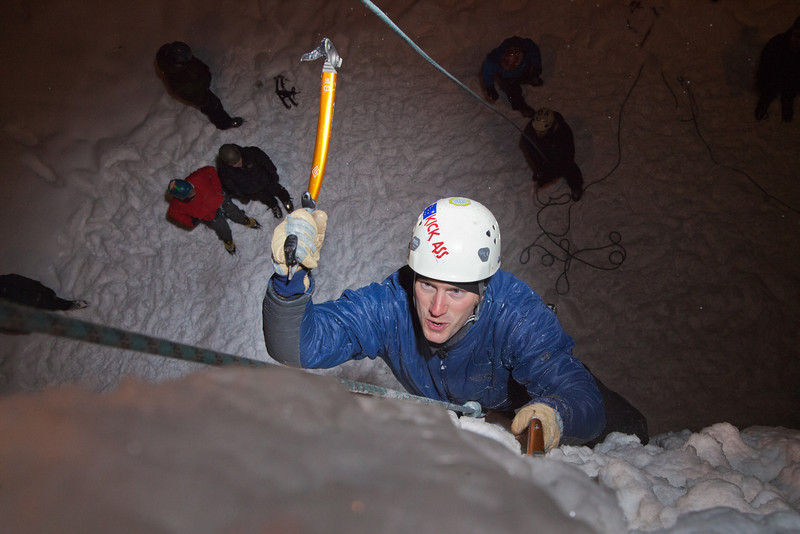 "Students try out the conditions during an open house on UAF's new outdoor ice climbing wall.  <div class=""ss-paypal-button"">Filename: LIF-12-3301-102.jpg</div><div class=""ss-paypal-button-end"" style=""""></div>"