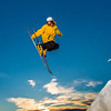"""Students enjoy some of the features of UAF's terrain park on a spring afternoon.  <div class=""""ss-paypal-button"""">Filename: LIF-13-3746-56.jpg</div><div class=""""ss-paypal-button-end"""" style=""""""""></div>"""