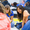 "Rose Crelli, center, reacts with a smile from a storytelling activity during the last event of New Student Orientation at the Student Rec. Center.  <div class=""ss-paypal-button"">Filename: LIF-13-3924-157.jpg</div><div class=""ss-paypal-button-end"" style=""""></div>"
