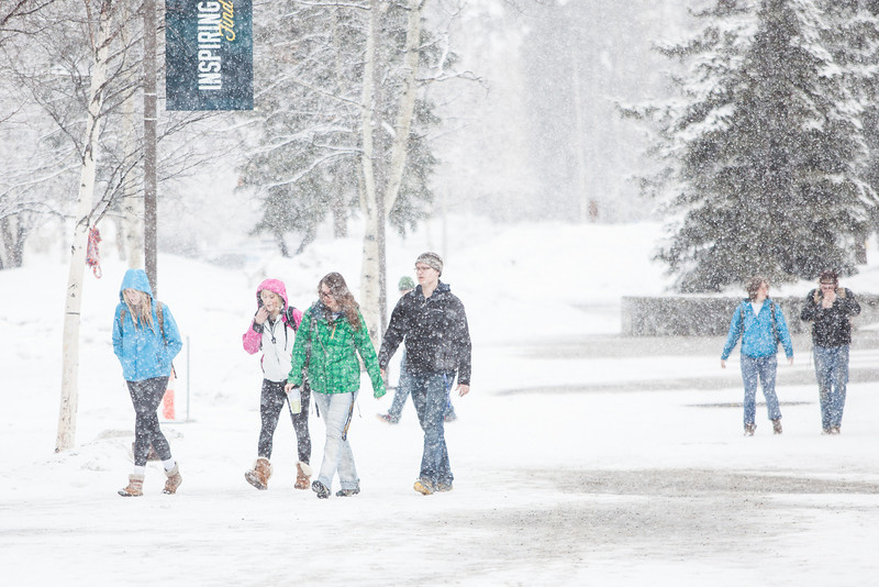 """Late winter snow blankets campus on an April morning in 2013.  <div class=""""ss-paypal-button"""">Filename: LIF-13-3796-7.jpg</div><div class=""""ss-paypal-button-end"""" style=""""""""></div>"""