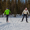 """UAF students Ian Wilkinson and Raphaela Sieber enjoy a morning loop around the campus ski trails.  <div class=""""ss-paypal-button"""">Filename: LIF-12-3348-46.jpg</div><div class=""""ss-paypal-button-end"""" style=""""""""></div>"""
