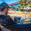 "Students enjoy some spring sunshine and warm temperatures in late April on the Fairbanks campus.  <div class=""ss-paypal-button"">Filename: LIF-16-4877-10.jpg</div><div class=""ss-paypal-button-end""></div>"