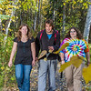 """Lily Grbavach, left, Demetri Martin-Urban and Grace Amundsen, stroll through the woods near the west entrance to campus on a nice fall afternoon.  <div class=""""ss-paypal-button"""">Filename: LIF-12-3544-130.jpg</div><div class=""""ss-paypal-button-end"""" style=""""""""></div>"""