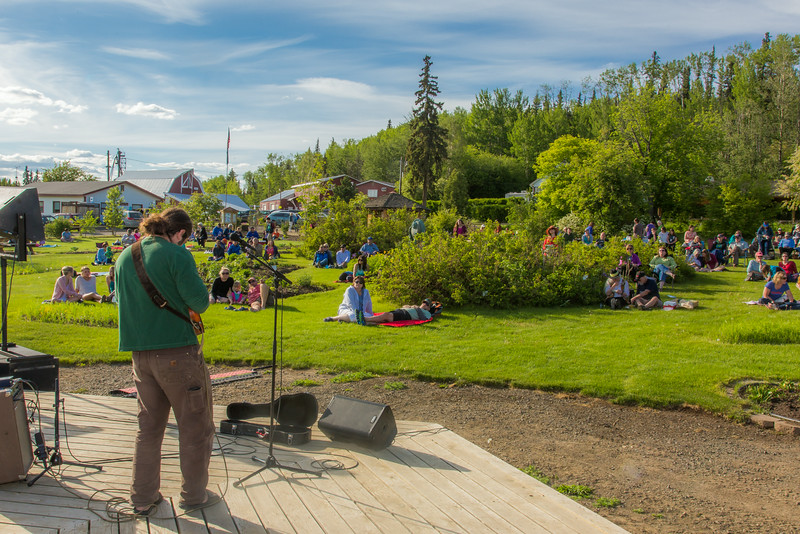 """Local musician Ukulele Russ entertained a nice crowd during UAF Summer Session's free Music in the Garden concert series June 12.  <div class=""""ss-paypal-button"""">Filename: LIF-14-4209-45.jpg</div><div class=""""ss-paypal-button-end""""></div>"""