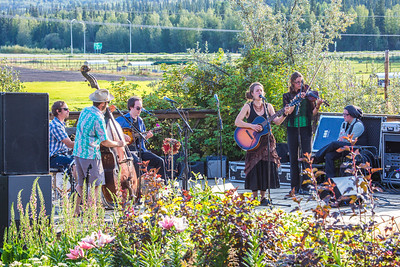 The local Fairbanks band Zingaro Roots performed before an appreciative audience during one of the Concert in the Garden events sponsored by UAF Summer Sessions.  Filename: LIF-12-3489-001.jpg