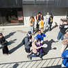 "Staff congregate at the entrance of Lola Tilly Commons before lunch during the Staff Appreciation Lunch in May.  <div class=""ss-paypal-button"">Filename: LIF-14-4190-13.jpg</div><div class=""ss-paypal-button-end""></div>"
