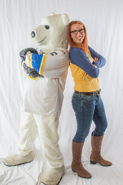 "Mary Kreta, right, director of the UAF Admissions office, poses with a special friend.  <div class=""ss-paypal-button"">Filename: LIF-13-3754-108.jpg</div><div class=""ss-paypal-button-end"" style=""""></div>"