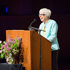 """Michelle Bartlett, director of Summer Sessions & Lifelong Learning, welcomes a packed house to a public lecture by Gloria Steinem.  <div class=""""ss-paypal-button"""">Filename: LIF-15-4556-51.jpg</div><div class=""""ss-paypal-button-end""""></div>"""