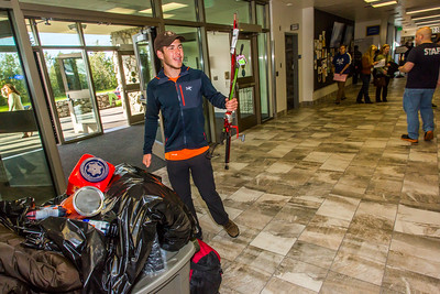 Returning students, staff and parents all pitch in to help new arrivals move into the residence halls during Rev It Up on the Fairbanks campus at the beginning of the fall 2015 semester.  Filename: LIF-15-4636-073.jpg