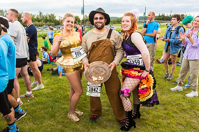 Participants in the 2016 Midnight Sun Run dress up in costume for the popular event near the summer solstice.  Filename: LIF-16-4918-34.jpg