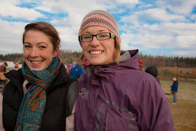 Students Kara La Rue and Imuya Dooley participated in the 2011 Farthest North Forest Sports Festival hosted by the UAF School of Natural Resources & Agricultural Sciences.  Filename: LIF-11-3185-08.jpg