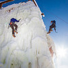 "Students take advantage of nice spring weather to try out their climbing skills on the new ice wall near the SRC.  <div class=""ss-paypal-button"">Filename: LIF-12-3321-046.jpg</div><div class=""ss-paypal-button-end"" style=""""></div>"
