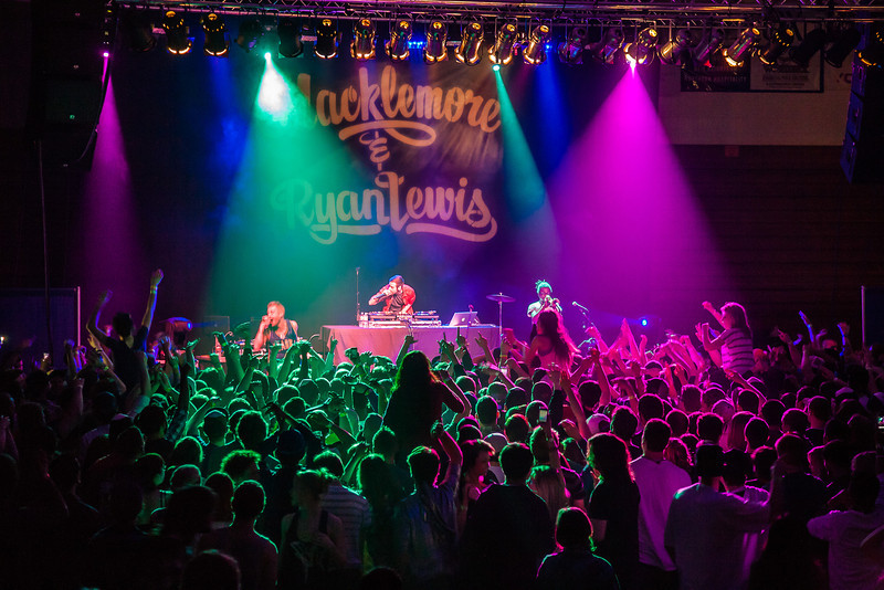 """A packed house filled the Patty Center Friday night for the Macklemore concert hosted by the Student Activities office during Springfest!  <div class=""""ss-paypal-button"""">Filename: LIF-12-3380-159.jpg</div><div class=""""ss-paypal-button-end""""></div>"""