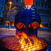 "Mathew Carrick take his turn at the Honors Program homeless vigil Friday morning while the temperature hovered around -20°.  <div class=""ss-paypal-button"">Filename: LIF-12-3653-33.jpg</div><div class=""ss-paypal-button-end"" style=""""></div>"