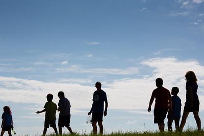 UAF Recreational Camp students tour around campus.  Filename: LIF-12-3428-14.jpg