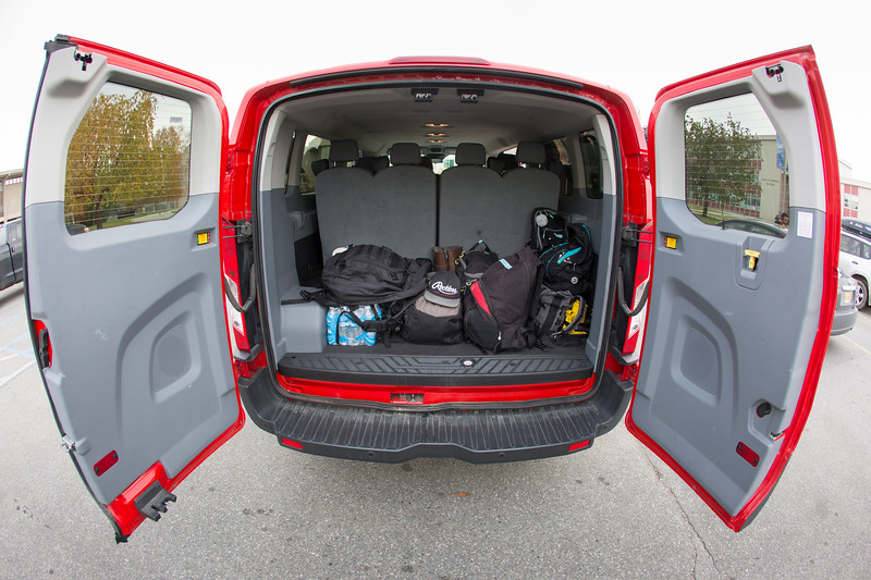 """The UAF Frozen Lenses Photography Club packed their van with camera gear and day packs for their landscape photography workshop south of Delta with Baxter Bond on Saturday, Sept. 15, 2018.  <div class=""""ss-paypal-button"""">Filename: LIF-18-5931-1.jpg</div><div class=""""ss-paypal-button-end""""></div>"""