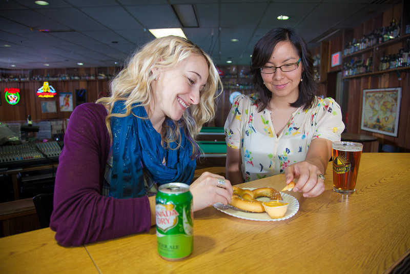 "Students unwind with cold drinks and snacks in UAF's Wood Center Pub.  <div class=""ss-paypal-button"">Filename: LIF-11-3217-083.jpg</div><div class=""ss-paypal-button-end"" style=""""></div>"