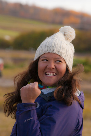 UAF alumna Nina Schwinghammer participated in the 2011 Farthest North Forest Sports Festival hosted by the UAF School of Natural Resources & Agricultural Sciences.  Filename: LIF-11-3185-146.jpg