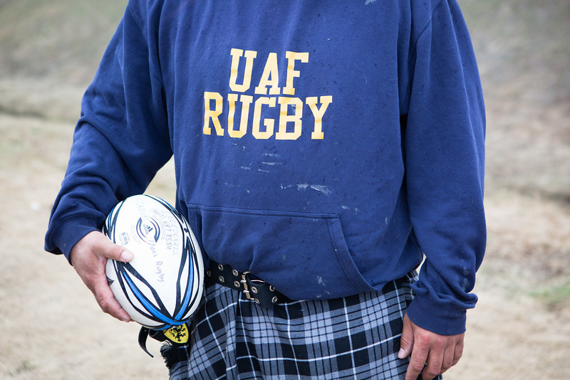 Mens and womens rugby teams play against Anchorage teams during the Spring Fest activities.