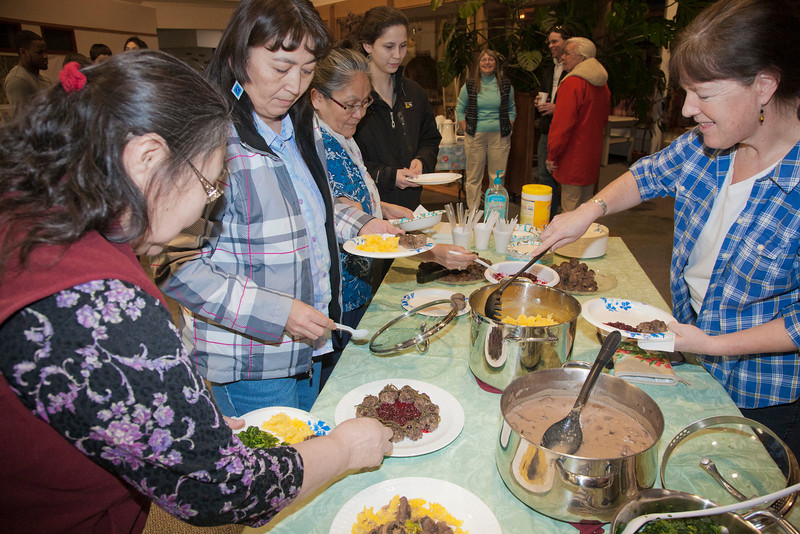 "Students of the native nutrition class sample a meal prepared for them by UAF Rural Nutrition Services (RNS).  <div class=""ss-paypal-button"">Filename: LIF-12-3278-104.jpg</div><div class=""ss-paypal-button-end"" style=""""></div>"