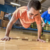 "Gavin Meggert, a personal trainer at the SRC, helps supervise Aaron Orr on his fitness routine during a workout session.  <div class=""ss-paypal-button"">Filename: LIF-14-4111-40.jpg</div><div class=""ss-paypal-button-end"" style=""""></div>"