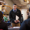 "Joshua Liebhober speaks to potential summer job opportunities at the Student Job and Internship Fair provided by UAF Career Services.  <div class=""ss-paypal-button"">Filename: LIF-13-3745-43.jpg</div><div class=""ss-paypal-button-end"" style=""""></div>"