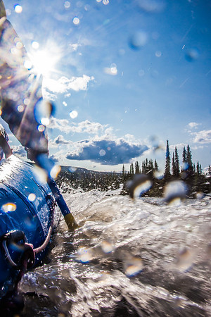 """Participants in a UAF Outdoor Adventures day-long raft trip paddle down the Nenana River.  <div class=""""ss-paypal-button"""">Filename: OUT-12-3492-197.jpg</div><div class=""""ss-paypal-button-end"""" style=""""""""></div>"""
