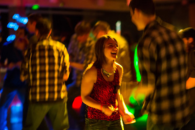 Chelsea Winter moves with the beat at a Mardi Gras themed dance at the Hess Rec. Center.  Filename: LIF-13-3740-24.jpg