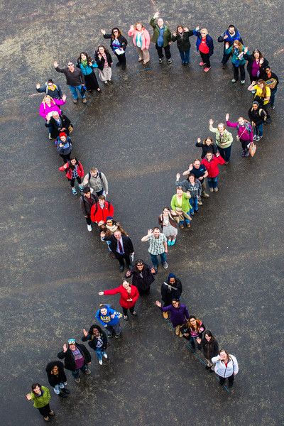 "Faculty, students and staff organize a human ribbon on campus for Autism Awareness Month.  <div class=""ss-paypal-button"">Filename: LIF-16-4861-64.jpg</div><div class=""ss-paypal-button-end""></div>"