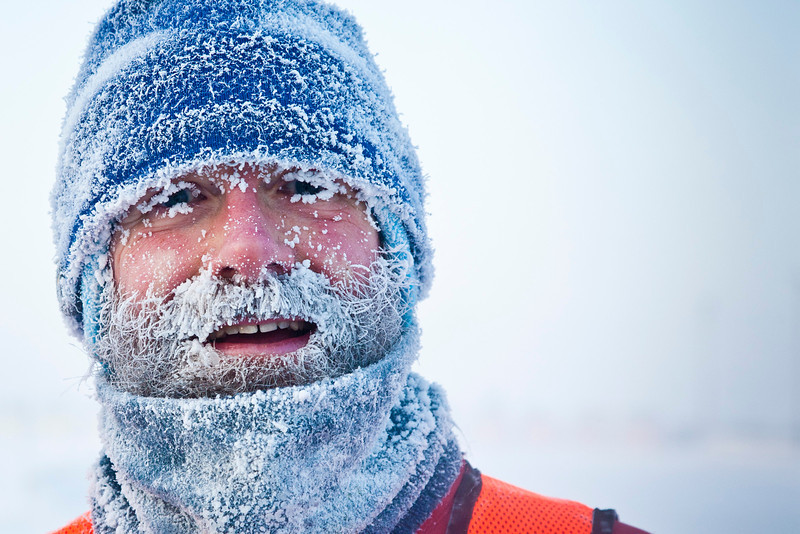 """Don Kiely ran in the Chilly Buns Winter Run on campus when tempuratures reached -50 degrees fahrenheit.  <div class=""""ss-paypal-button"""">Filename: LIF-12-3266-39.jpg</div><div class=""""ss-paypal-button-end"""" style=""""""""></div>"""