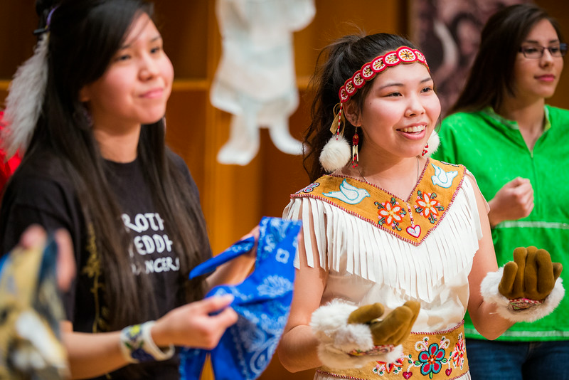 """The Troth Yeddha' dance group performs during the 2014 Festival of Native Arts at the Davis Concert Hall.  <div class=""""ss-paypal-button"""">Filename: LIF-14-4100-260.jpg</div><div class=""""ss-paypal-button-end""""></div>"""