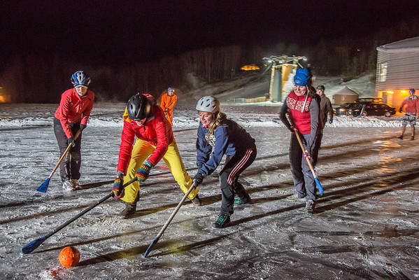 """Outdoor broomball, played on the ice in front of the SRC, is a popular intramural sport at UAF.  <div class=""""ss-paypal-button"""">Filename: LIF-12-3652-165.jpg</div><div class=""""ss-paypal-button-end"""" style=""""""""></div>"""