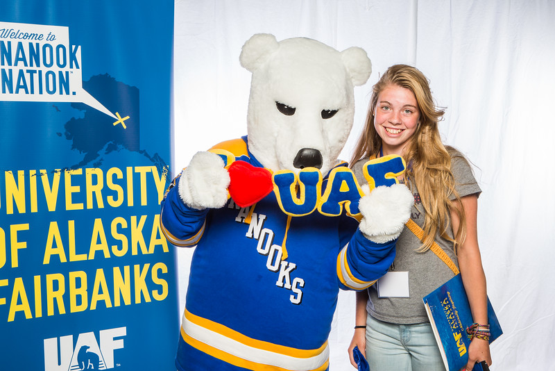 "Prospective students take a portrait during the summer 2016 Inside Out event hosted by the UAF's Office of Admissions and the Registrar.  <div class=""ss-paypal-button"">Filename: LIF-16-4926-19.jpg</div><div class=""ss-paypal-button-end""></div>"