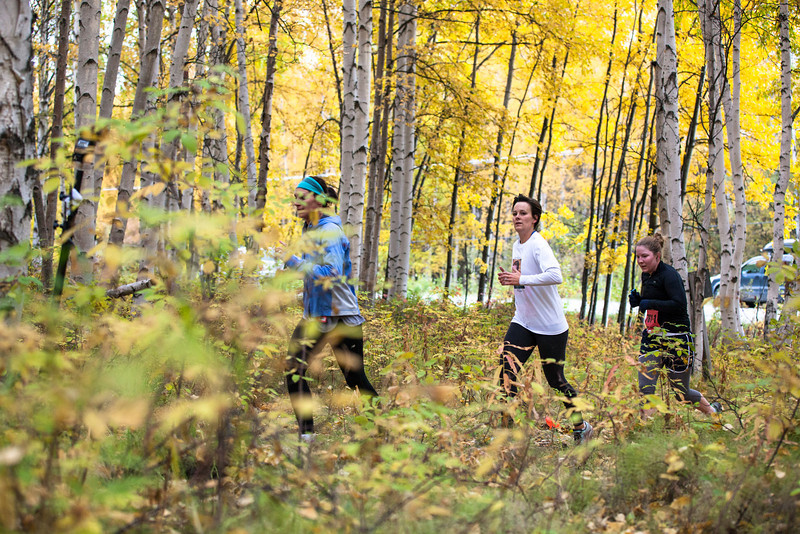 """Runners return to the trails from Ballaine Road at the 50th Annual Equinox Marathon, Saturday morning, September 15, 2012.  <div class=""""ss-paypal-button"""">Filename: LIF-12-3553-72.jpg</div><div class=""""ss-paypal-button-end"""" style=""""""""></div>"""