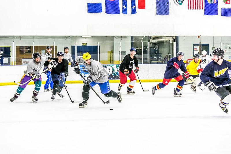 """Intramural hockey action on a Tuesday night at the Patty Ice arena.  <div class=""""ss-paypal-button"""">Filename: LIF-14-4111-358.jpg</div><div class=""""ss-paypal-button-end"""" style=""""""""></div>"""