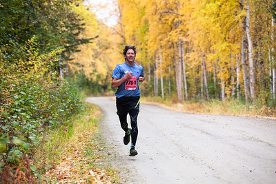 At least 1,200 runners leave the University of Alaska campus at the start of the 50th Annual Equinox Marathon, Saturday morning, September 15, 2012.  Filename: LIF-12-3553-121.jpg