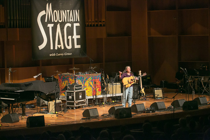 """Alaska singer/songwriter Susan Grace entertained a packed house during one of two live recorded performances of the nationally broadcast radio show Mountain Stage in the Davis Concert Hall Aug. 17 and 18. The shows were sponsored by UAF Summer Sessions and KUAC-FM.  <div class=""""ss-paypal-button"""">Filename: LIF-12-3502-345.jpg</div><div class=""""ss-paypal-button-end"""" style=""""""""></div>"""