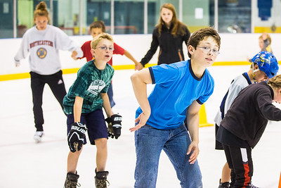 Children at the SRC Summer Recreation Camp skate away on the ice at the Patty Center Ice Arena.  Filename: LIF-13-3873-114.jpg