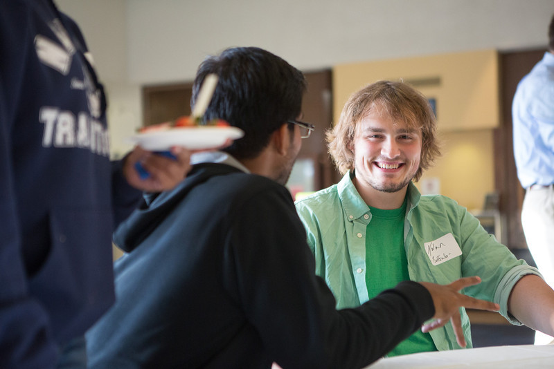 """Nolan Rappa, of Buffalo, NY meets and mingles with other students from various locations around the world during the UAF International Programs & Initiatives Student Mixer event.  <div class=""""ss-paypal-button"""">Filename: LIF-13-3927-45.jpg</div><div class=""""ss-paypal-button-end"""" style=""""""""></div>"""