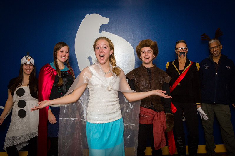 "The UAF School of Management dress up as Disney characters on Halloween.  <div class=""ss-paypal-button"">Filename: LIF-14-4366-14.jpg</div><div class=""ss-paypal-button-end""></div>"