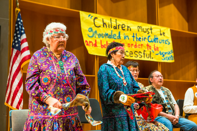 """Dancers perform onstage during during the 2014 Festival of Native Arts in the Charles Davis Concert Hall.  <div class=""""ss-paypal-button"""">Filename: LIF-14-4100-103.jpg</div><div class=""""ss-paypal-button-end""""></div>"""