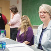 "Beverly McClendon of Banner Health, right, with a panel of nursing professionals speak to high school and college students on careers in healthcare at the 2012 Alaska Interior Medical Education Summit Saturday, Oct. 27, 2012 at the Reichardt Building.  <div class=""ss-paypal-button"">Filename: LIF-12-3617-52.jpg</div><div class=""ss-paypal-button-end"" style=""""></div>"