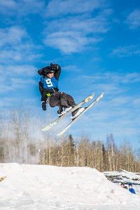 UAF students and local high schoolers signed up to compete in the inaugural si and snowboard jump competition on the new terrain park in March, 2013.  Filename: LIF-13-3750-61.jpg
